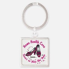 Home health care Square Keychain