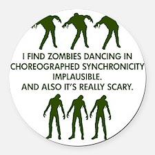 Big Bang Zombies Round Car Magnet