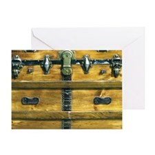 Steam Punk Steamer Trunk Greeting Card