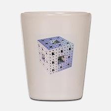 Silver Menger sponge fractal Shot Glass