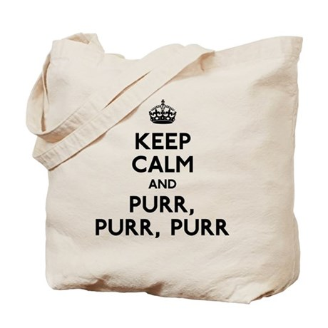 Keep Calm and Purr Tote Bag