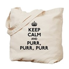 Keep Calm and Purr Tote Bag