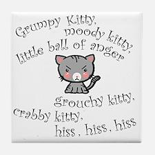 Grumpy Kitty Tile Coaster