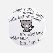 "Grumpy Kitty 3.5"" Button"