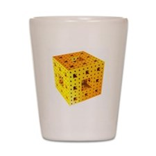 Yellow Menger sponge fractal Shot Glass