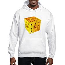Yellow Menger sponge fractal Hoodie