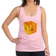Yellow Menger sponge fractal Racerback Tank Top
