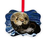 Sea otter Picture Frame Ornaments