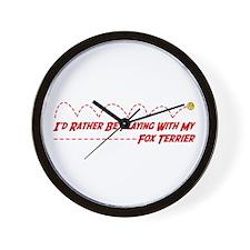 Terrier Play Wall Clock