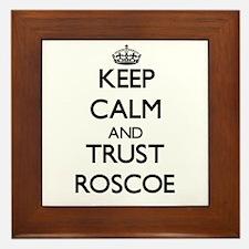 Keep Calm and TRUST Roscoe Framed Tile