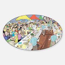 Market Festival Sticker (Oval)