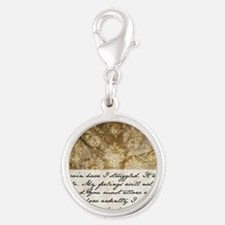 Pride and Prejudice Quote Silver Round Charm