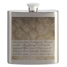 Pride and Prejudice Quote Flask