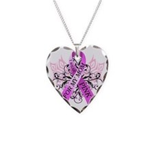 I Wear Pink for my Mom Necklace Heart Charm