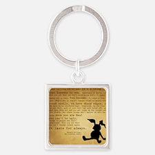 Velveteen Rabbit Print Square Keychain