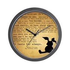 Velveteen Rabbit Print Wall Clock