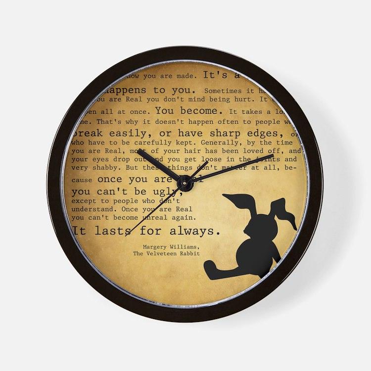 Velveteen Rabbit Print Wall Clock