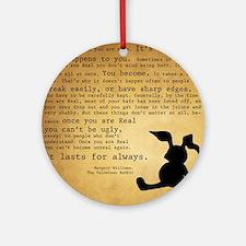 Velveteen Rabbit Print Round Ornament