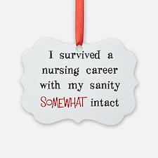 retired nurse t-shirts sanity int Ornament
