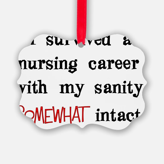 retired nurse t-shirts sanity int Ornament