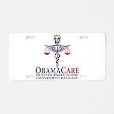Obamacare Aluminum License Plate