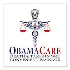 "Obamacare Square Car Magnet 3"" x 3"""