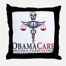 Obamacare Throw Pillow