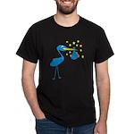 Blue Stork & Baby Dark T-Shirt