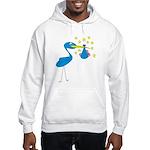 Blue Stork & Baby Hooded Sweatshirt