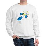 Blue Stork & Baby Sweatshirt