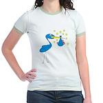 Blue Stork & Baby Jr. Ringer T-Shirt