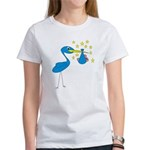 Blue Stork & Baby Women's T-Shirt