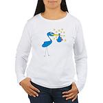Blue Stork & Baby Women's Long Sleeve T-Shirt