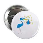 Blue Stork & Baby Button