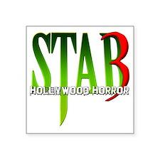 """Stab 3 Logo Square Sticker 3"""" x 3"""""""