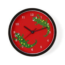 Two Salamanders Wall Clock