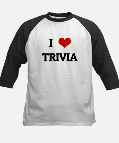 I Love TRIVIA Kids Baseball Jersey