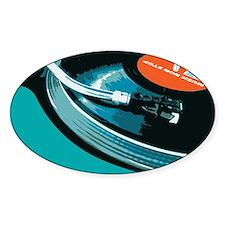 Turntable Vinyl DJ Decal
