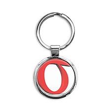 Greek letter Sigma, lower case Round Keychain