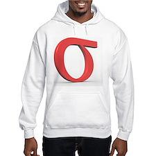 Greek letter Sigma, lower case Hoodie