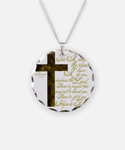 Plan of God Jeremiah 29:11 Necklace Circle Charm