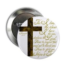 """Plan of God Jeremiah 29:11 2.25"""" Button"""