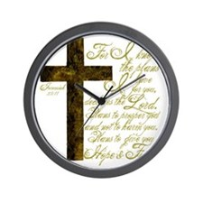 Plan of God Jeremiah 29:11 Wall Clock