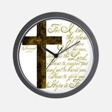 Plan of God Jeremiah 29:11 Wall Clock