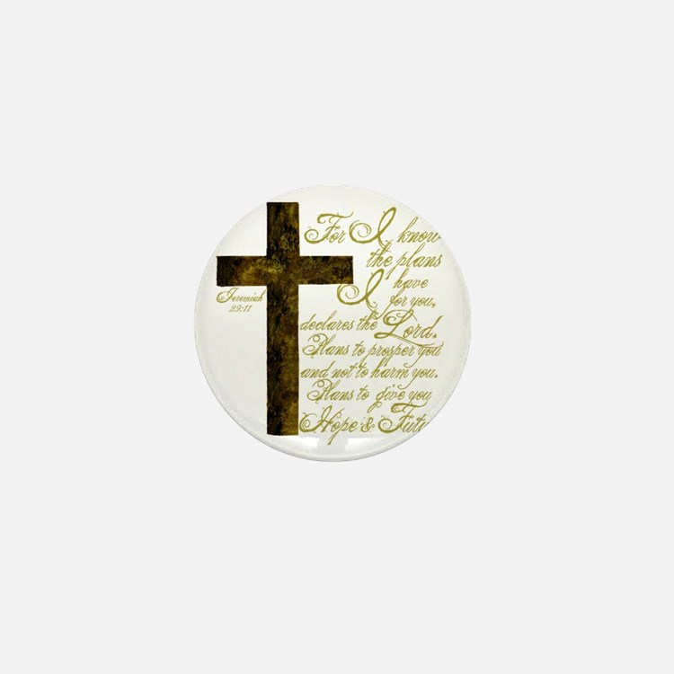 Plan of God Jeremiah 29:11 Mini Button