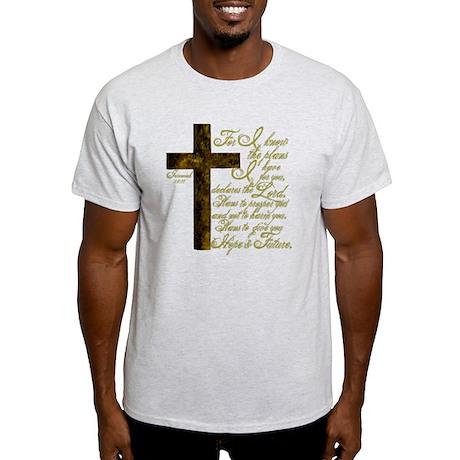 Plan of God Jeremiah 29:11 Light T-Shirt