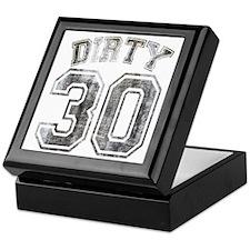 Dirty 30 Grunge Keepsake Box