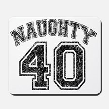 Naughty 40 Speckled Mousepad