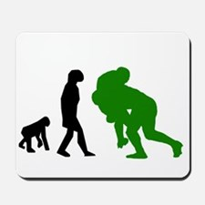 Rugby Tackle Evolution (Green) Mousepad