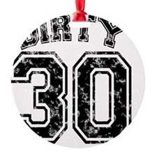 Dirty 30 Marbled 1 Ornament